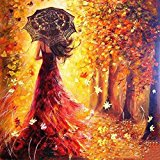 Adarl DIY Oil Painting Paint By Number Kit Image Drawing On Canvas By Hand Coloring Arts Crafts & Sewing NEW Girl