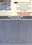 """2 Pack Medium Blue 4""""x4"""" Iron on Patches - Strongest Iron on Denim Jean Patch"""