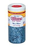 Pacon Spectra Glitter Sparkling Crystals, Sky Blue, 4-Ounce Jar (91670)
