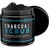 Premium Activated Charcoal Scrub 10 oz.- All Natural Pore Minimizer - Reduces Wrinkles, Blackheads & Acne Scars, Anti Cellulite Treatment - Body & Face Cleanser - Face Scrub + Body Scrub