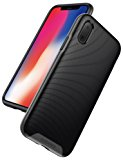 iPhone X Case, iPhone 10 Case, Anker KARAPAX Breeze Case Soft TPU Cover Shell Military-Grade Certified [Support Wireless Charging] [Anti Scratch] With 3D Texture Protective Case for Apple iPhone X