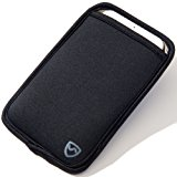 """SYB Phone Pouch, EMF Protection Sleeve for Cell Phones up to 3.25"""" Wide, Black"""