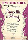 "Bob Fosse (Debut) ""DANCE ME A SONG"" James Shelton 1949 Musical FLOP Sheet Music"