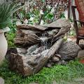 Alpine Teton Waterfall Outdoor Fountain - WIN256