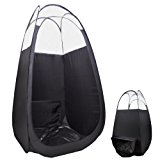 """AW Pop Up Black Airbrush Sunless Spray 45x45x83"""" Tanning Tent Booth Air Vent Clear Top Mobile w/ Bag"""