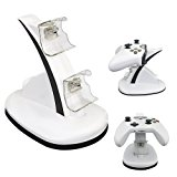 XBOX ONE/XBOX ONE S Charging Station,Anrain Dual USB LED Controller Charger Docking Station Stand for XBOX ONE/XBOX ONE S