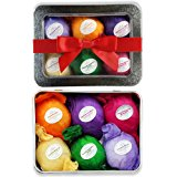 Bath Bomb Gift Set USA - 6 Vegan All Natural Essential Oil Lush Fizzies Spa Kit Organic Shea/Cocoa Soothe Dry Skin.Best bath bombs gift for women,teen girls,birthdays.Add to Bath Bubbles - Bath Basket