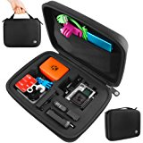 CamKix Carrying Case for Gopro Hero 4, Black, Silver, Hero+ LCD, 3+, 3, 2 and Accessories – Ideal for Travel or Home Storage – Complete Protection for Your GoPro Camera – Microfiber Cleaning Cloth