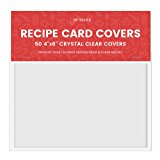 """Jot & Mark Recipe Card Protectors 4"""" x 6"""" Crystal Clear   Protect Your Recipes From Kitchen Messes   50 Covers Per Pack"""