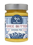 Himalayan Pink Salt Grass-Fed Ghee Butter by 4th & Heart, 9 Ounce, Pasture Raised, Non-GMO, Lactose Free, Certified Paleo