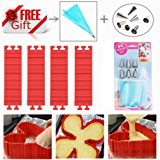 Silicone Cake Mold Baking Mould Tools Magic Bake Snake with Cake Decorating Tips Combo Pastry Dessert Nonstick DIY Design with Any Pan Shape Flexible Reusable Easy to Use And Wash