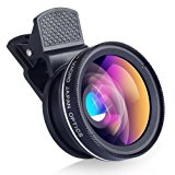 HD Lens Apexel Universal Professional HD Camera Lens Kit for iPhone 6 6 Plus 5S 5 Samsung S6 S5 Note 4 3 (0.45x Wide Angle Lens + 12.5x Macro Lens)