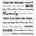 FolkArt Painting Stencils - Laser - Words/Phrases - Family
