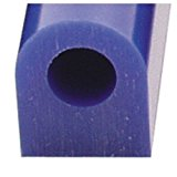 Carving Wax Ring Tube, Large Flat Side Tube, Blue