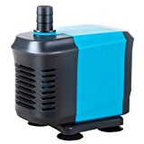 KEDSUM 550GPH(40W) Submersible Pump, Ultra Quiet Water Pump, Fountain Pump with 4.2ft Power Cord, 3 Nozzles for Fish Tank , Pond , Aquarium, Statuary, Hydroponics