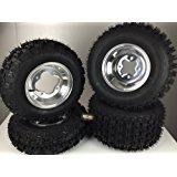 4 NEW Yamaha YFZ350 Banshee 350 Polished Aluminum Rims & MassFx Tires Wheels kit
