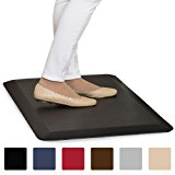 """The Original 3/4"""" GORILLA GRIP (R) Premium Anti-Fatigue Comfort Mat, Perfect for Kitchen and Office Standing Desk, Ergonomically Engineered, 6 Colors and 3 Sizes, Non-Toxic, 39x20 inches (Black)"""
