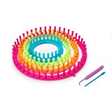 Darice 1171-58 Set of 4 Round Plastic Knitting Looms