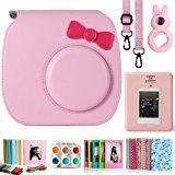 CAIUL 7 in 1 Fujifilm Instax Mini 7s and Polaroid PIC-300 Camera Accessories Bundles - Pink