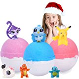 Kids Bath Bombs Surprise Toy Inside Huge Fun Bath Bombs For Kids Great Home Lush Bath Bomb Gift Set Gender Neutral Boys & Girls Great Best Brithday Christmas Gifts 3 XL 6.5oz