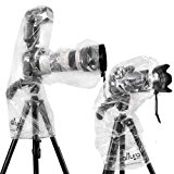 (2 Pack) Altura Photo Rain Cover for DSLR Camera – Standard and Flash Version