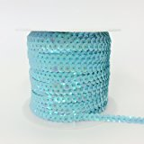 PEPPERLONELY Brand 100 Yard/Roll Metallic Faceted Sequin Trim 6mm(1/4 Inch), Emerald