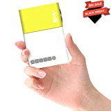 Smartphone Projector, Artlii Micro iphone Pocket PC Video Mini Pico Laptop Projector Home Cinema Portable Projector for Christmas Gift