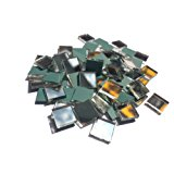 "3/8"" square mirror mosaic tile - 200 pcs."