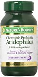 Nature's Bounty Acidophilus Chewable Wafers, Natural Strawberry, 2 Count