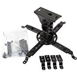 VideoSecu Projector Ceiling Mount Bracket Fit Flat and Vaulted Ceiling PJ1B WU7