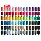 84 Colors Sewing Thread Embroidery Thread Assortment Coil 250 Yards Each,Sewing Kit All Purpose Polyester Thread for Hand and Sewing Machine Use