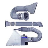 Exhaust Extension Hose Kit for Hobby Airbrush Spray Booth - Hose Extends up to 5.6 Feet (67 Inches)