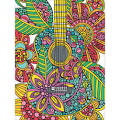 Dimensions Pencil Works Color by Number Kit 9X12-Blooming Guitar