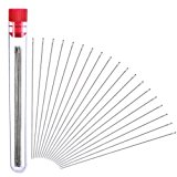 Outus 30 Pieces Beading Needles with Needle Bottle (0.45 mm Diameter and 80 mm/ 3.15 inches Long)
