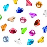 Acrylic Color Faux Round Diamond Crystals Treasure Gems for Table Scatters, Vase Fillers, Event, Wedding, Birthday Decoration Favor, Arts & Crafts (1 Pound, 240 Pieces) by Super Z Outlet (Assorted)