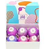 Bath Bombs Gift Set - 6 Vegan, Handmade, All Natural and Organic - Best Gift for Her: Women, Mom, Girls, Teens - Ultra Lush Spa Fizzes - Add to Bath Bubbles - Bath Basket