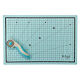 Lyfstyle Craft Set with 45mm Tungsten Carbide Steel Blade Rotary Cutter and 12 X 18-Inch Double-Sided 3mm Cutting Mat