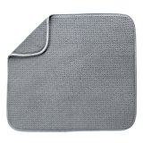 S&T 407201 Microfiber Dish Drying Mat, 16 by 18-Inch, Gray
