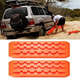 Traction Mat Emergency Tires Traction Mats Track Trapped Recovery Boards Vehicle Extraction Tire Grip Snow Ice Sand Mud Orange