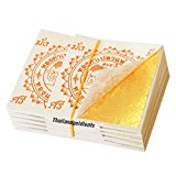 100 Edible Gold Leaf Sheets 24K 100% Pure 35 x 35 MM Cake Decoration Macaroon Dessert Drink By THAILANDGOLDLEAFS