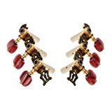Andoer Alice AO-020HV2P 2pcs(Left + right) Classical Guitar Tuning Key Gold /Black Plated Peg Tuner Machine Head(long) String Tuner