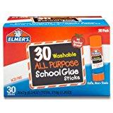 Elmer's All Purpose School Glue Sticks, Washable, 30 Pack, 0.24-ounce sticks