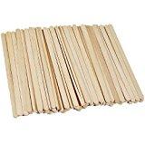 Disposable Birchwood Wooden Coffee Stir Sticks Stirrers Wood Tea Beverage Stir Stick Stirrer,5.5 Inch Length,0.25 Inch Width,500 Pcs (500)