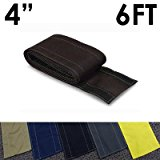 """4"""" SafCord Carpet Cord Cover - Length: 6FT - Color: Black"""