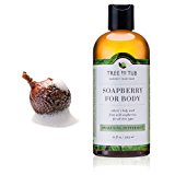 Organic Body Wash for Men & Women—the Only Natural Body Wash that Cleans with Ayurvedic Antibacterial & Antifungal Soapberry Lather, Invigorating Peppermint, 11oz—Tree to Tub