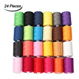HAITRAL Sewing Thread 24 Colors 1000 Yards Polyester Each Thread Spools For Sewing Machine