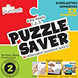 Puzzle Saver Adhesive Sheets (12-Pack) Easiest Alternative To Messy Puzzle Glue