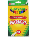 Crayola Classic Fine Line Markers, Assorted Colors - 10 count