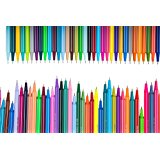 Aen Art 72 Fineliner Color Pen Set, Colored Fine Line Drawing Marker Pens for Coloring Books Writing and Bullet Journal (0.4mm Felt Tips, Individual Colors)