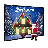 120-Inch outdoor Projector Screen Home Theater/Cinema or Presentation Platform - 16:9 Portable Projector Screen - Suitable for HDTV/Sports/Movies/Presentations (120 inch)